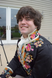 Closeup of Matt in his 18th century outfit