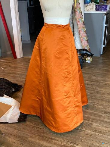 Whole skirt sewn together!